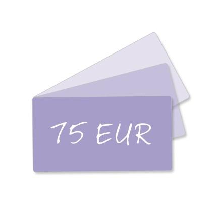 75 EUR Geschenkgutschein